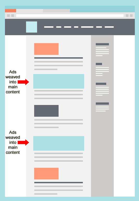 Pubilcidad agresiva - Ads que se confunden con contenidos