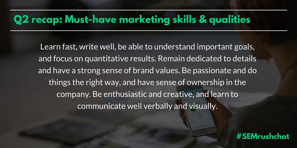 Must-have marketing skills and qualities