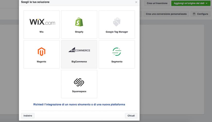Promozione su Facebook: integrazioni per inserire il pixel di Facebook