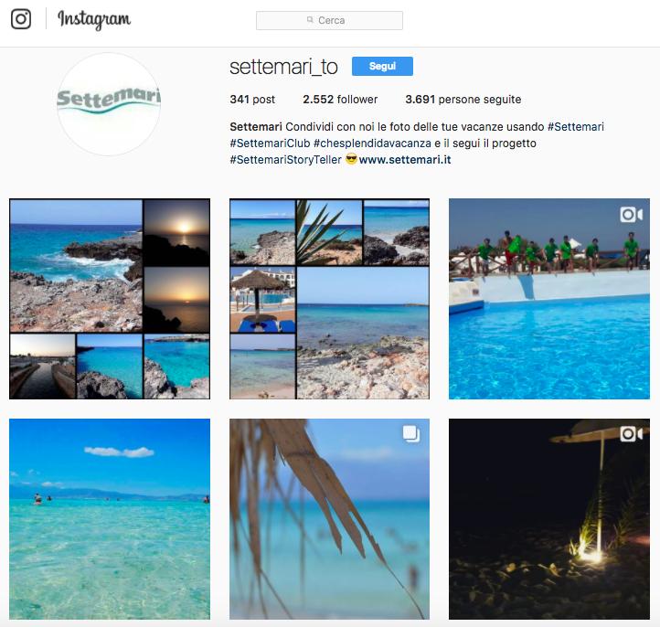 Progetti visual su Instagram da cui trarre ispirazione: Settemari