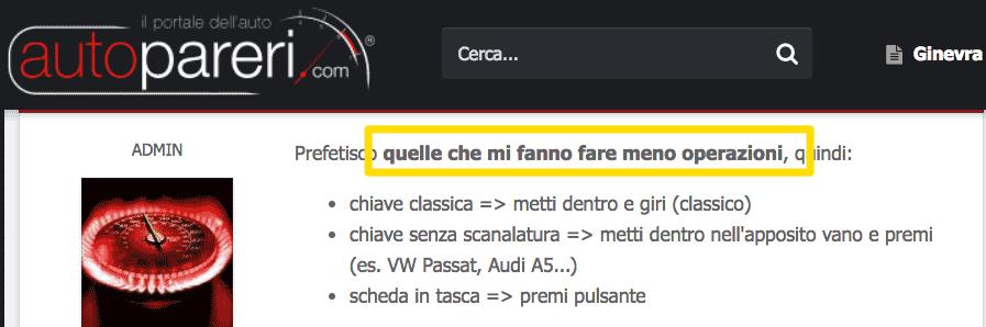 Riscontro sulla User interface: le persone vogliono fare prima!