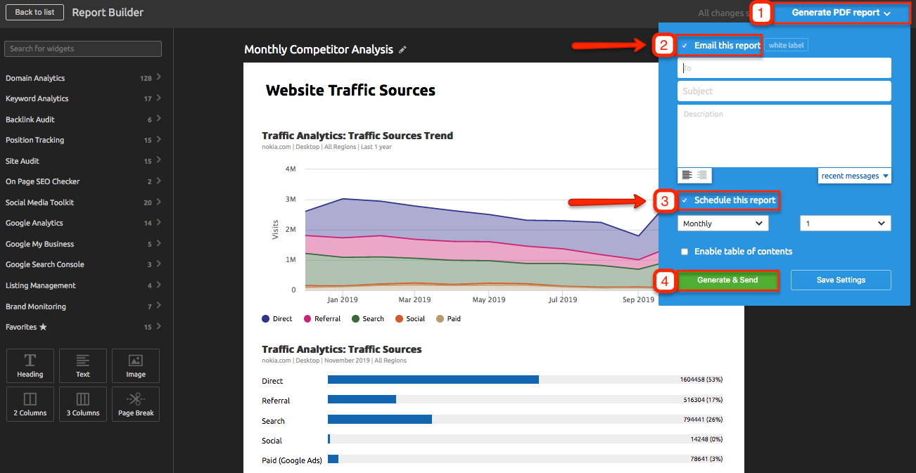 Automated Competitor Monitoring and Reporting with SEMrush. Bild 7