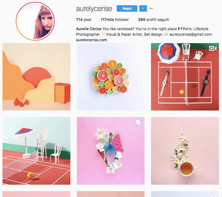 Guarda il profilo Instagram di Aurelycerise