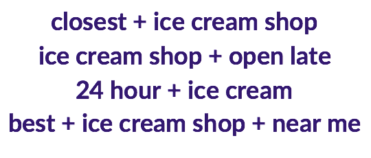 ice cream intent modifiers