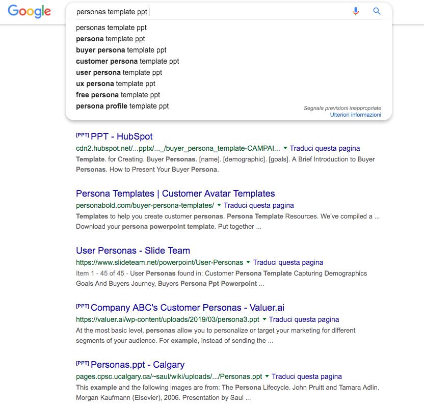 serp ppt: posizionarsi su Google con i tipi di file cercati dagli utenti