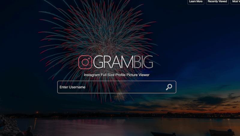Grambig: applicazione per scaricare immagini da qualsiasi profilo instagram