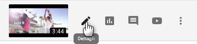 Simbolo Penna youtube studio
