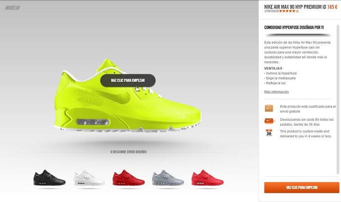 Experiencia de usuario Nike