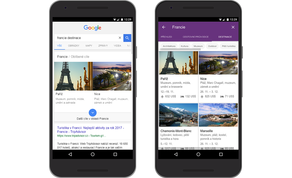 New languages in Google Destinations