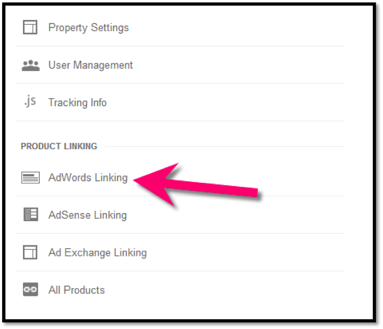 AdWords Linking in GA