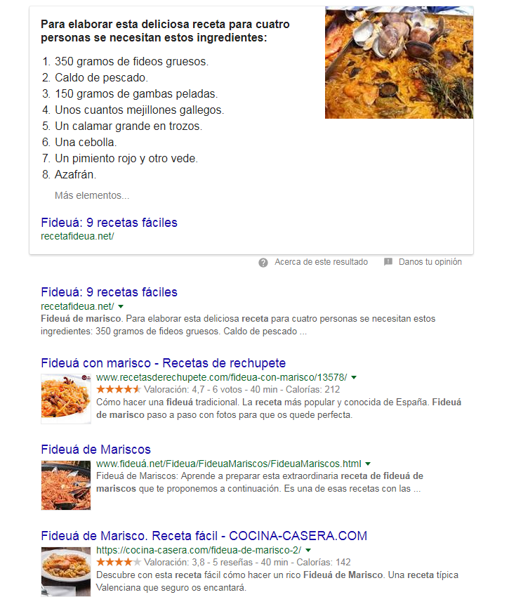 Checklist de SEO on page - Marcado de datos