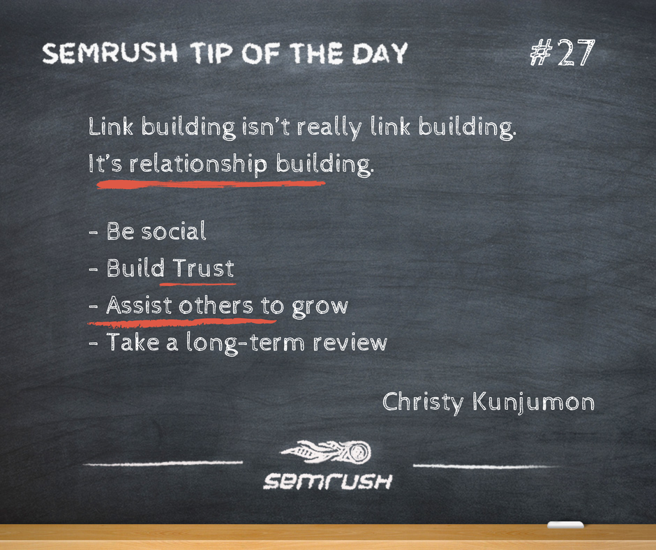 #27 Christy Kunjumon link building relationship building