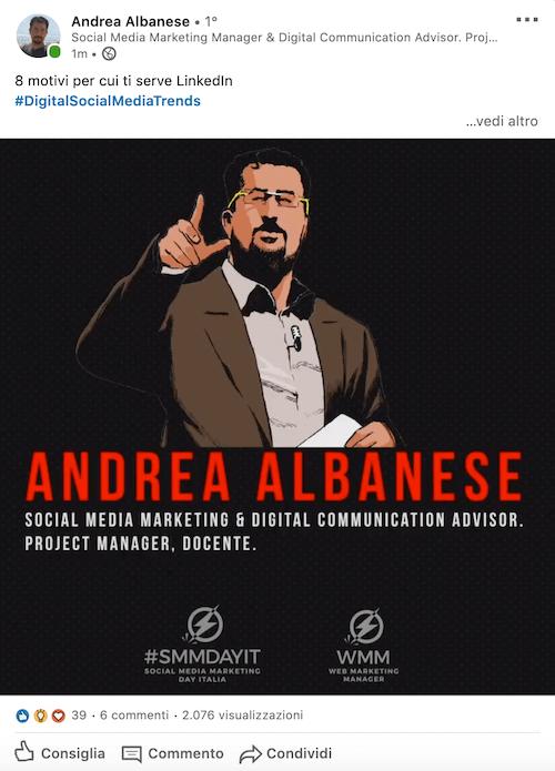 Perché seguire andrea albanese su linkedin