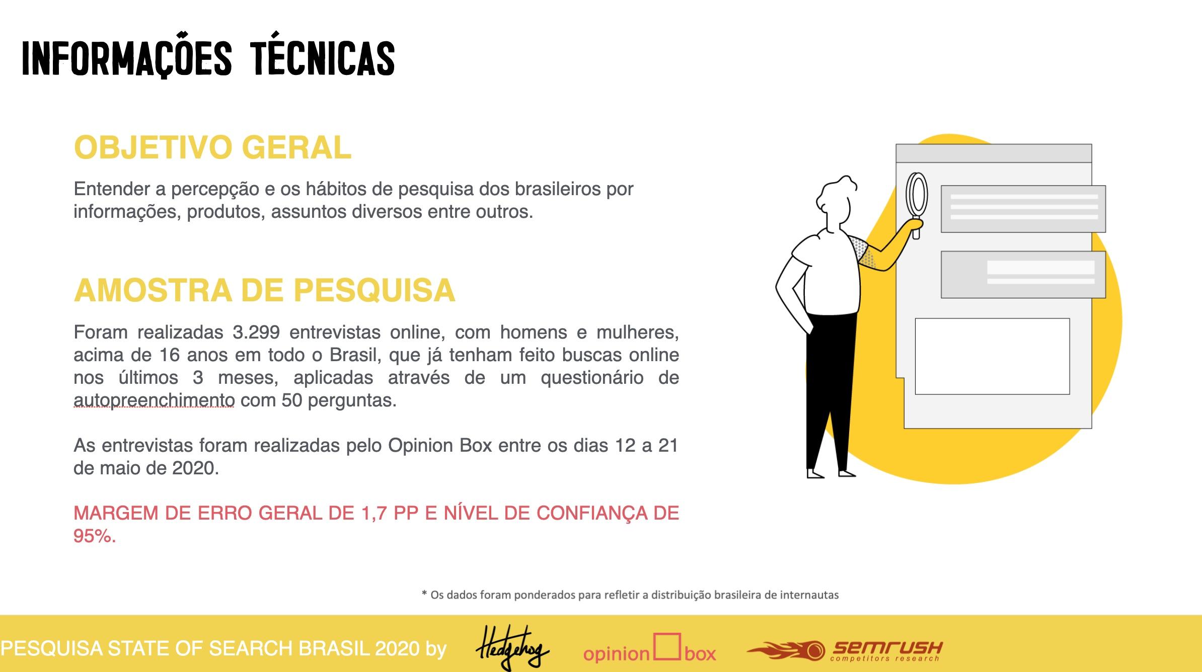 objetivo da pesquisa foi entender o comportamento de pesquisa online dos brasileiros