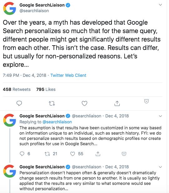 la risposta di google alle accuse di duckduckgo