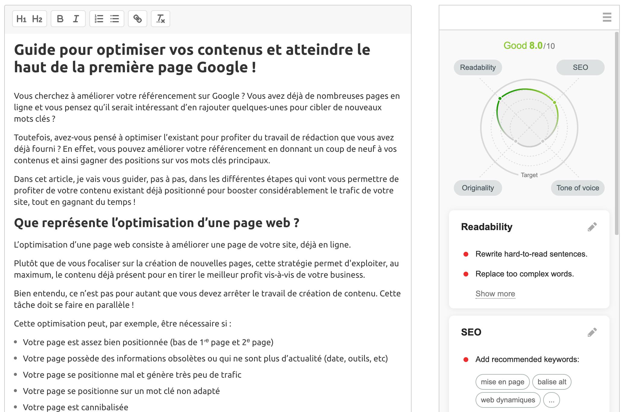 Guide pour optimiser vos contenus et atteindre le haut de la première page Google !. Image 22