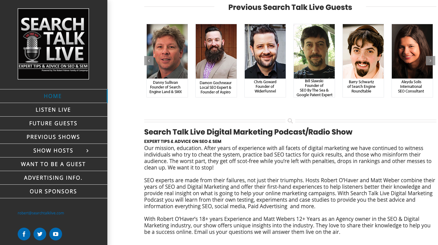Search Talk Live podcast