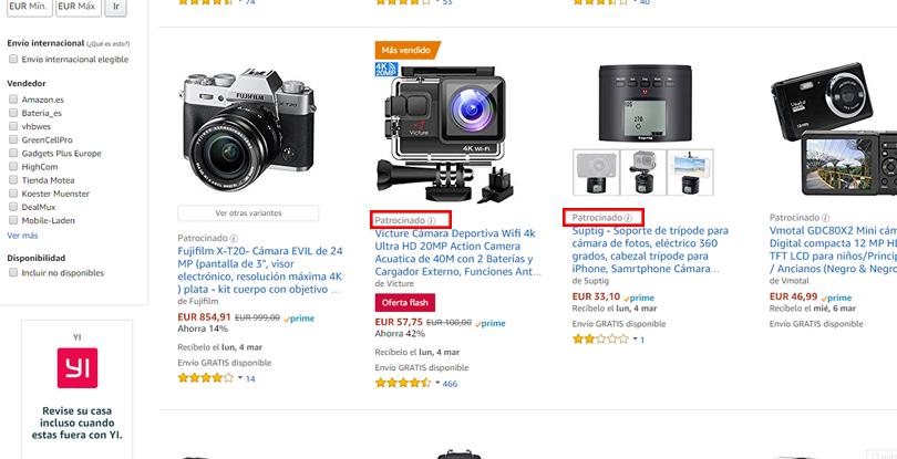 Publicidad en Amazon - Producto patrocinado