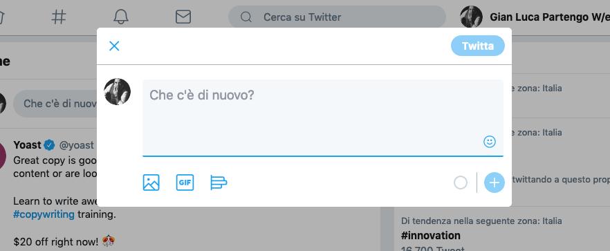 Twitter form di interazione