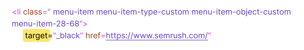 html a tag