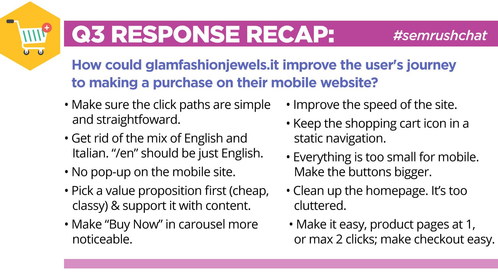 SEMrushchat recap glamfashionjewels.it
