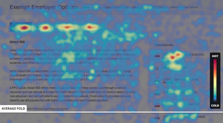 Page Heat Map screenshot
