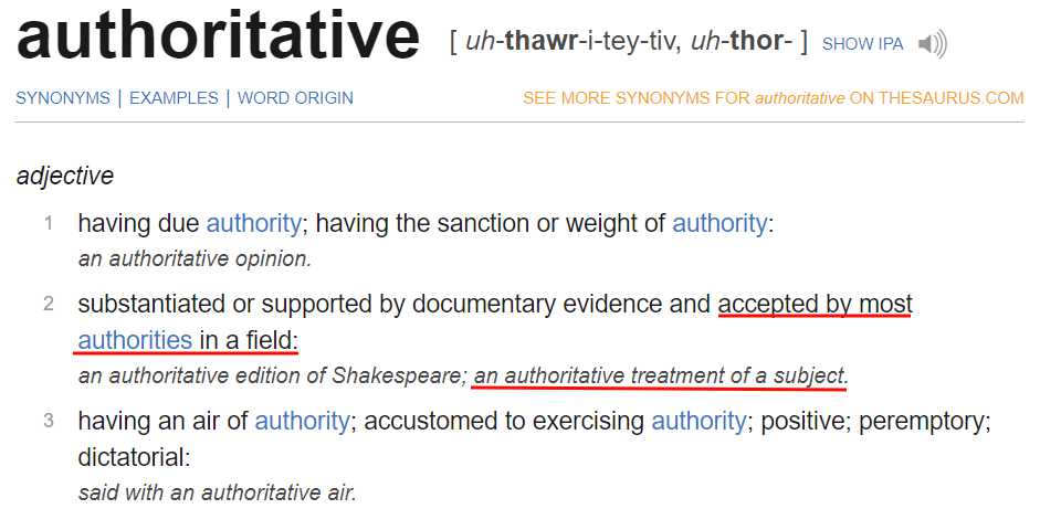 Authoritative Definition