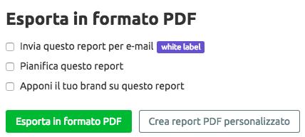 Esporta i report delle tue campagne di marketing con un clic
