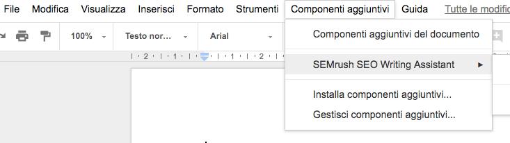 SEO Writing Assistant: installazione su Google Docs