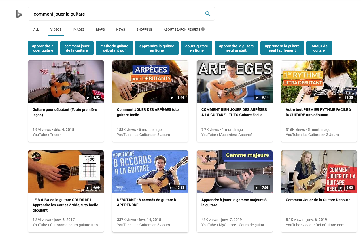 Youtube domine les vidéos instructives