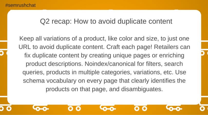 Tips for avoiding duplicate content