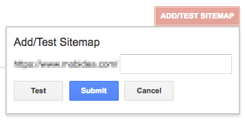 submit and test sitemap