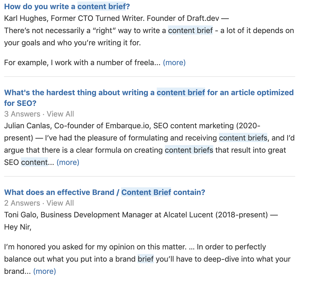 find relevant topics on quora