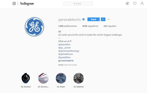 Likes en Instagram - General Electric