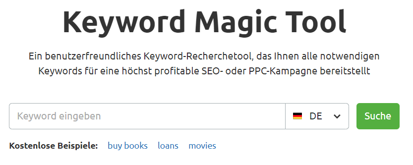 Keyword Magic Tool von SEMrush