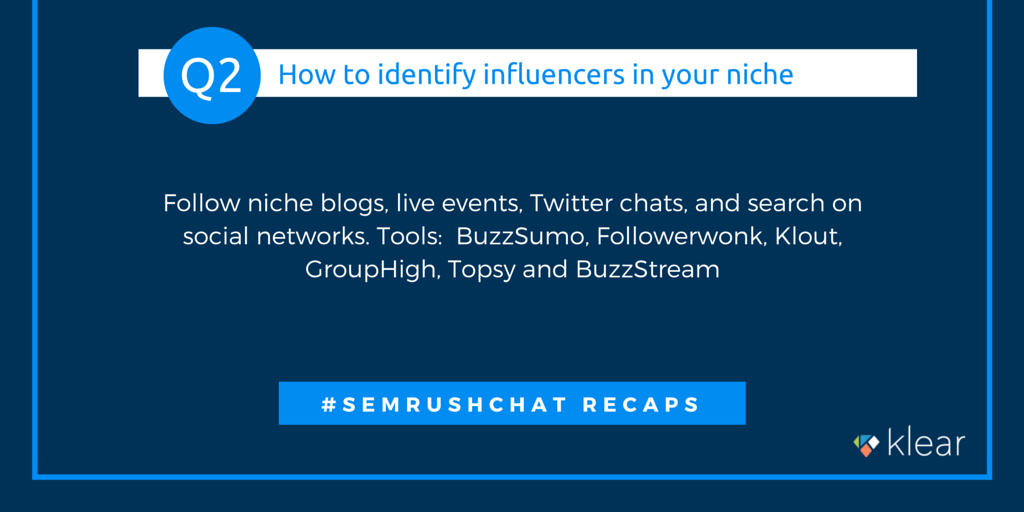SEMrush chat - Influence marketing Q2