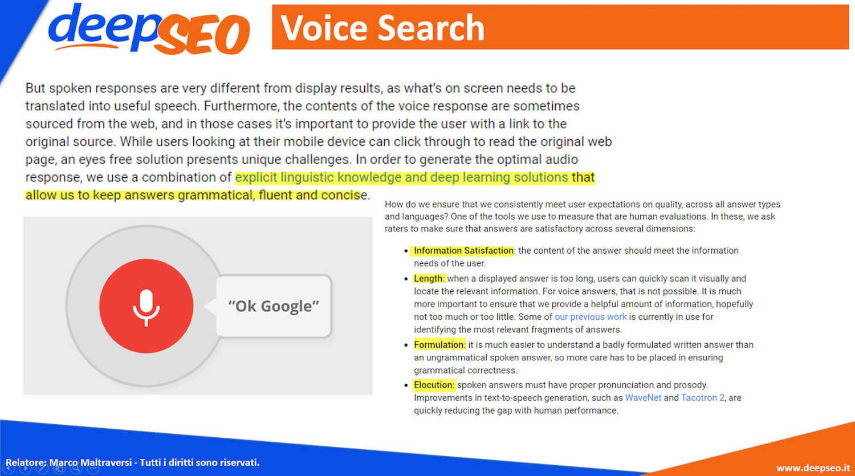 come risponde google alle ricerche vocali