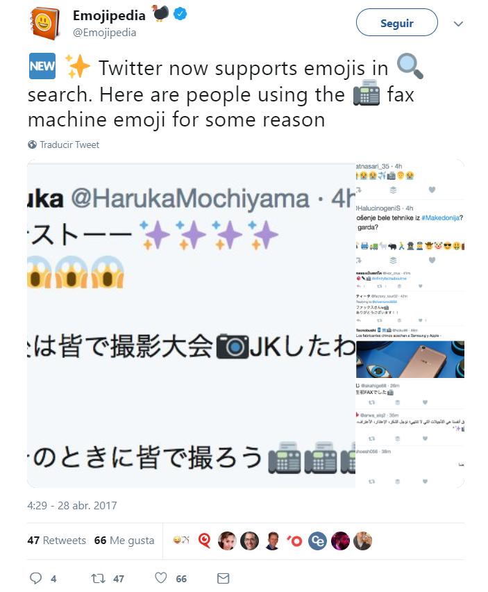 Cómo utilizar emojis - Twitter