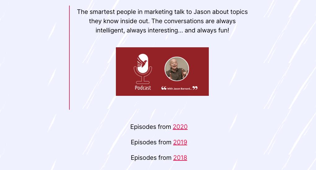 Kalicube Marketing Podcast with Jason Barnard