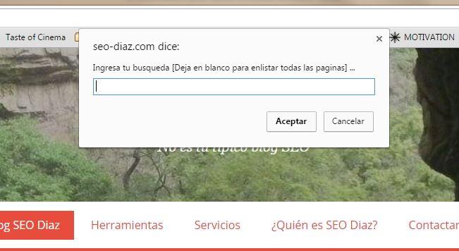 Realizar búsqueda site