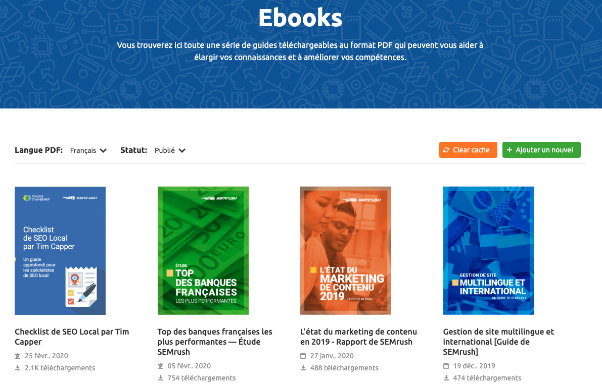 eBooks SEMrush