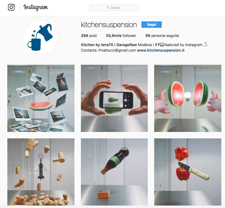 Kitchensuspension: come essere creativi su Instagram