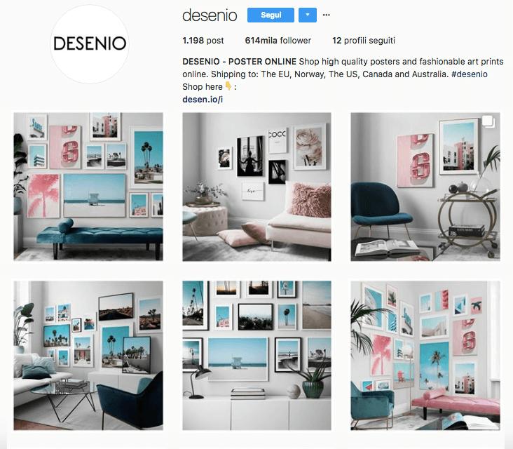 Desenio: pagina Instagram da seguire