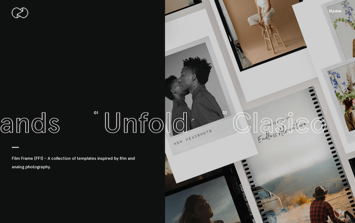 App mobile per creare album di foto su Instagram: Unfold