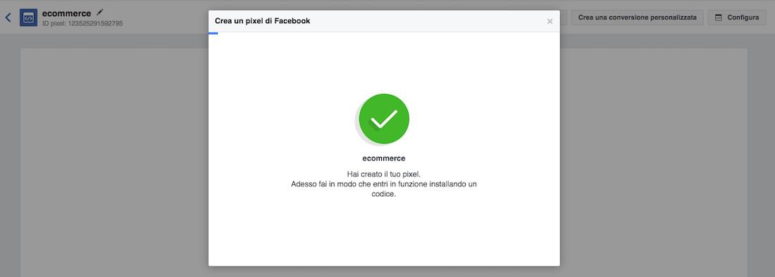 Attivare il pixel di Facebook: installare il codice