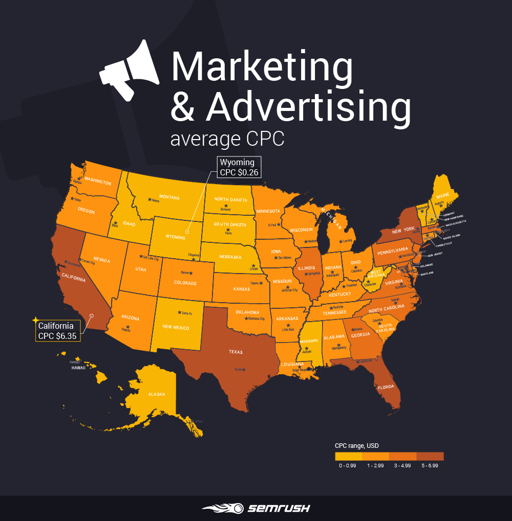 Most and least expensive states to advertise in - Marketing & Advertising