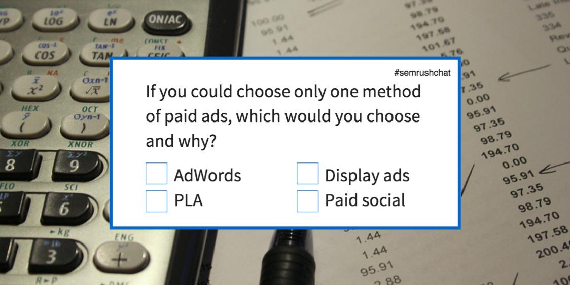 AdWords vs PLA vs Display ads vs Paid social