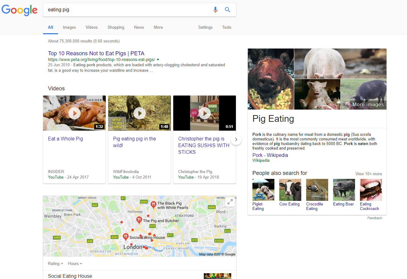 Search results for 'eating pig'