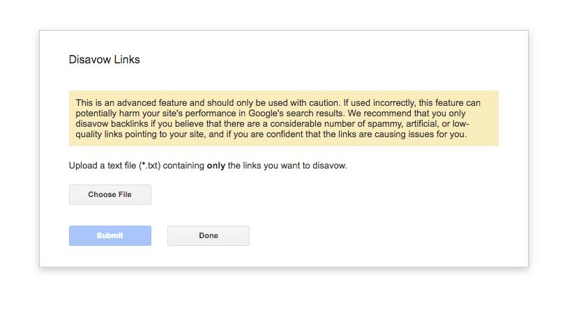 Google's Disavow Tool