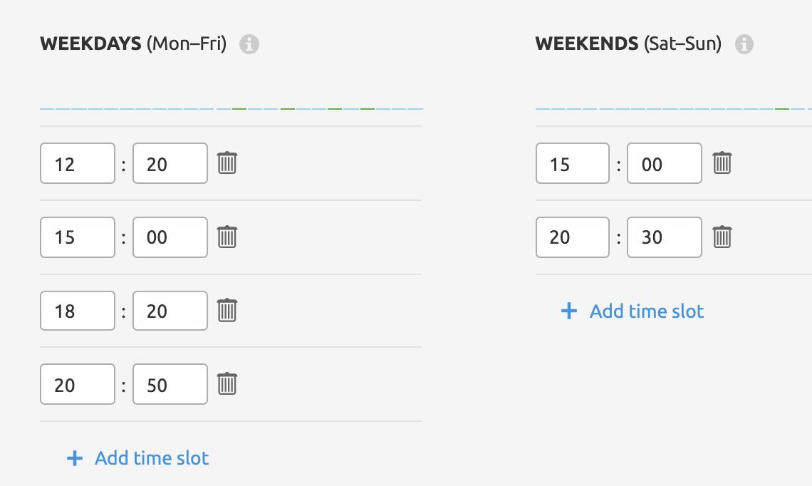 semrush social schedule